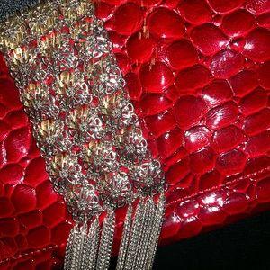 White House Black Market purse red clutch